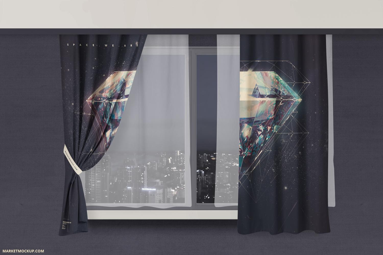 دانلود موکاپ پرده زیباش