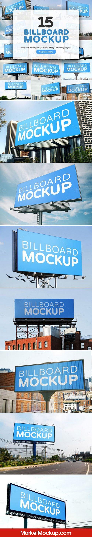 دانلود موکاپ تابلو و بیلبورد در فضای شهری