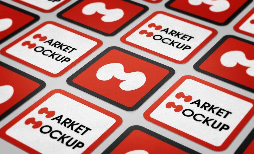 دانلود موکاپ کارت ویزیت مربع لمینت مات 2