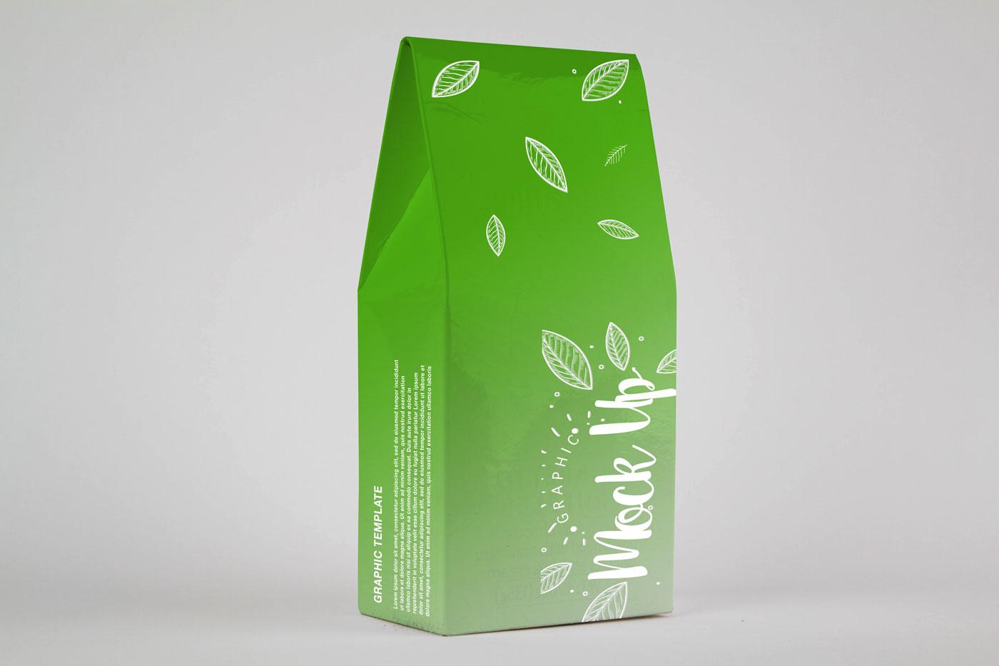 دانلود موکاپ جعبه محصول چای و قهوه