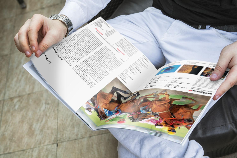 موکاپ قطع A4 مجله,کاتالوگ,کتاب (مجموعه2) شامل 5 موکاپ