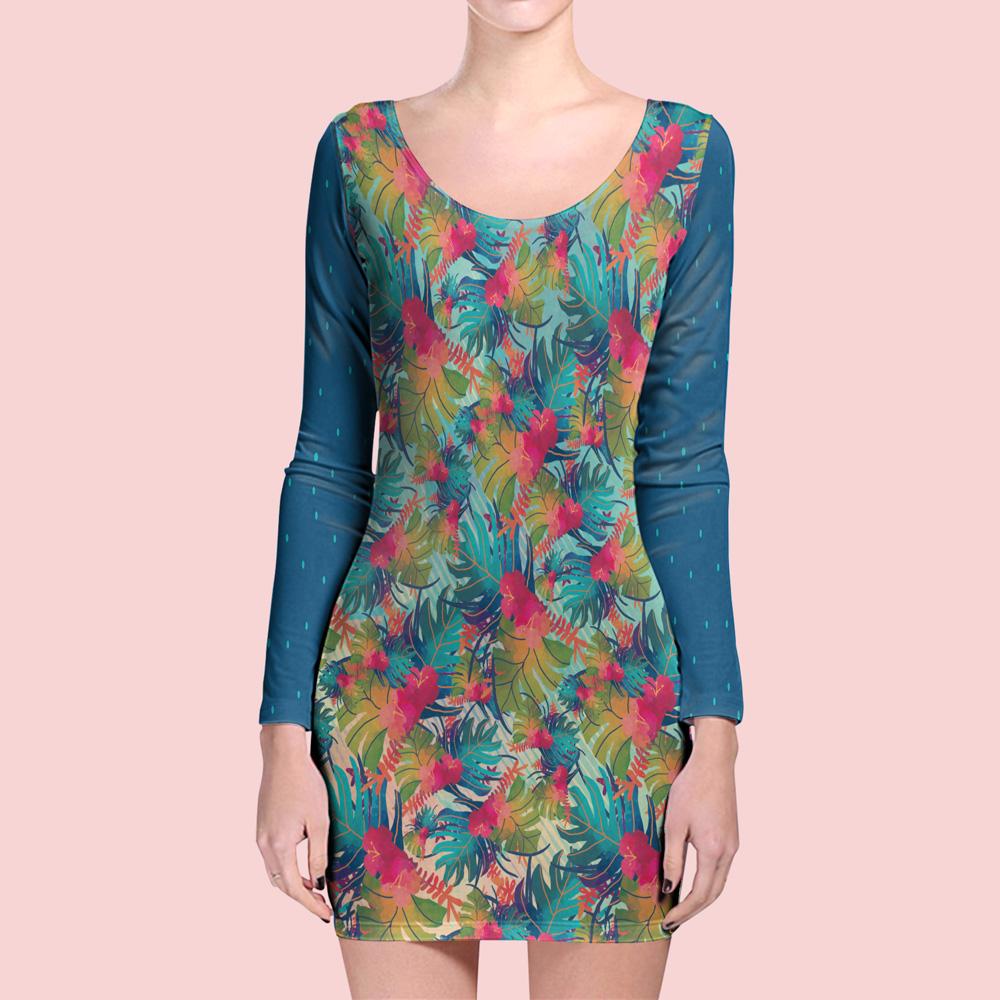 دانلود موکاپ لباس آستین بلند (سارافون) مدل ۱۱
