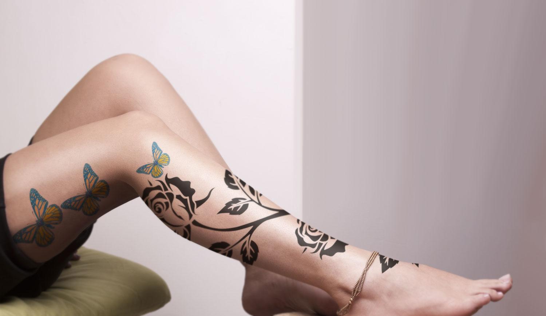 دانلود موکاپ تتو روی بدن زن مدل5