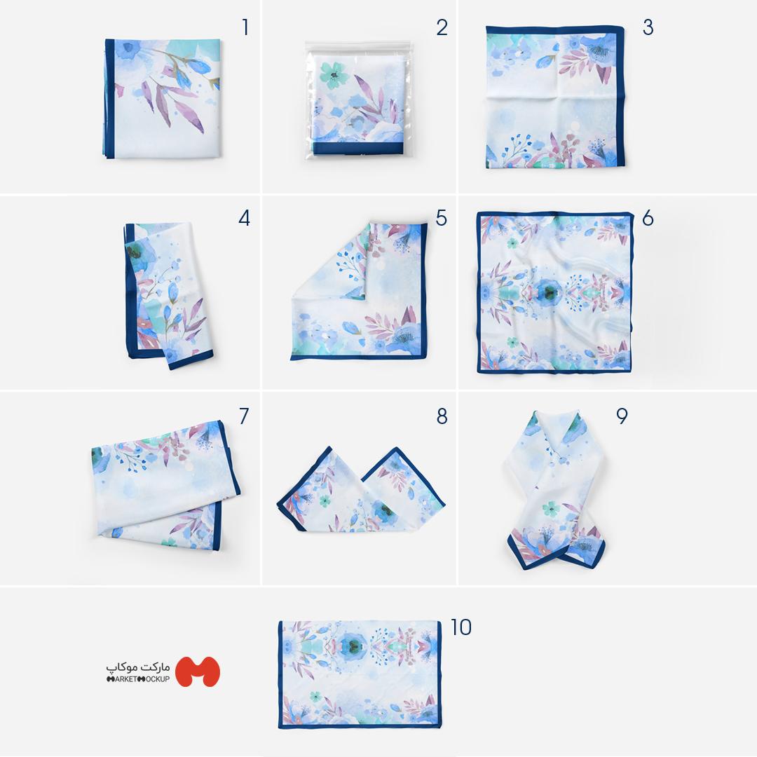 دانلود موکاپ روسری در 10 طرح