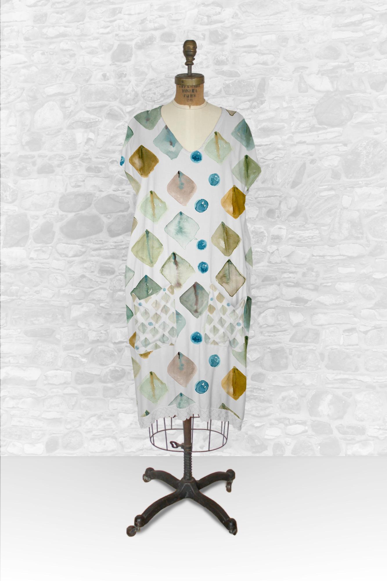 دانلود موکاپ لباس تونیک نخی جیب دار زنانه