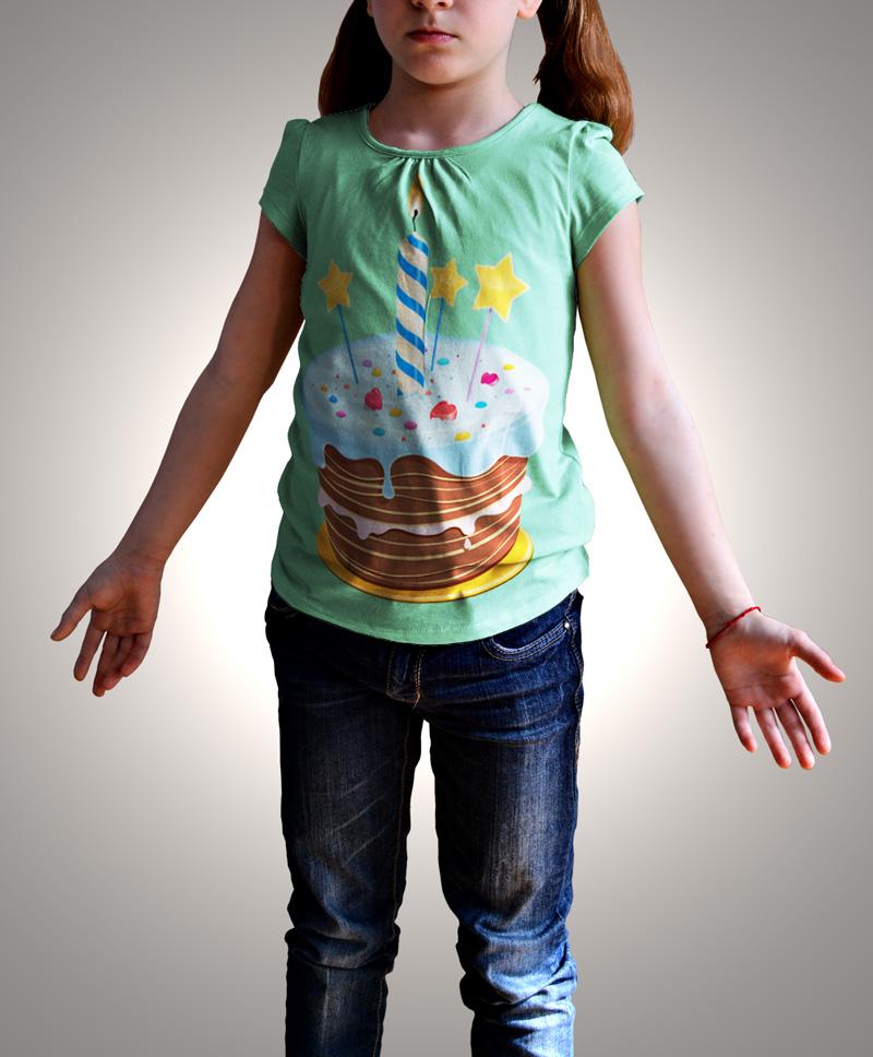 دانلود موکاپ تیشرت دخترانه همراه با چند حالت ژست دخترانه