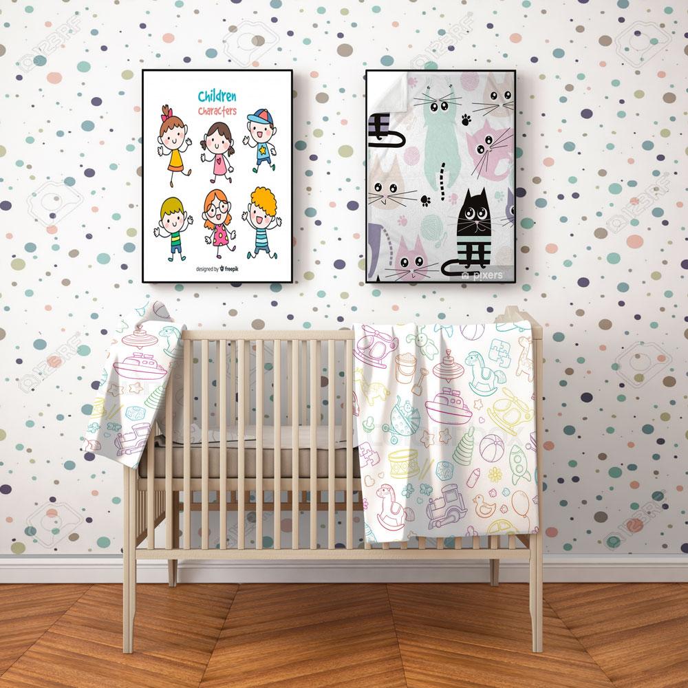 موکاپ اتاق خواب نوزاد ۱
