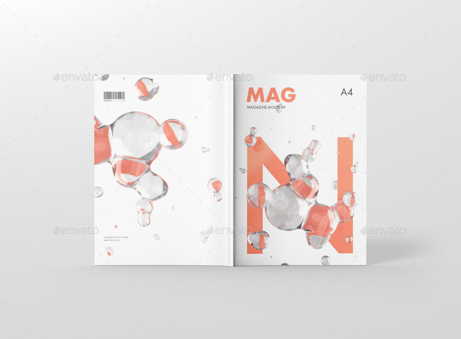 موکاپ 2 جلد مجله