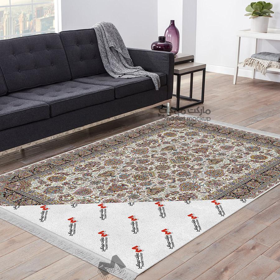 موکاپ فرش جلوی مبل 2