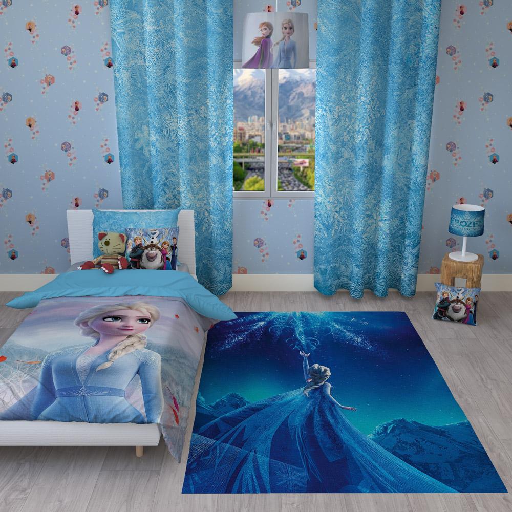 موکاپ کامل اتاق کودک با تخت و پرده و لوستر و فرش