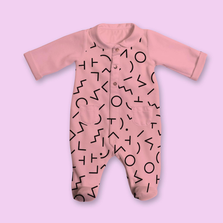 موکاپ لباس سرهمی جورابدار کودک و نوزاد
