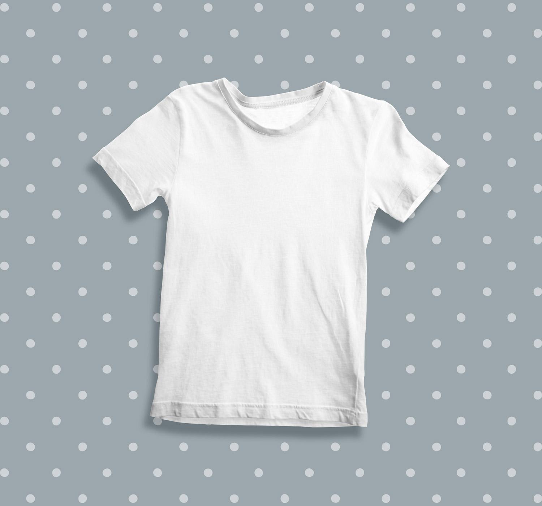 موکاپ تی شرت دخترانه
