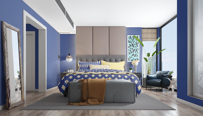 موکاپ ست کامل اتاق خواب با تمام امکانات