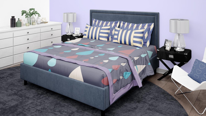موکاپ روتختی و اتاق خواب با چهار نما شماره2