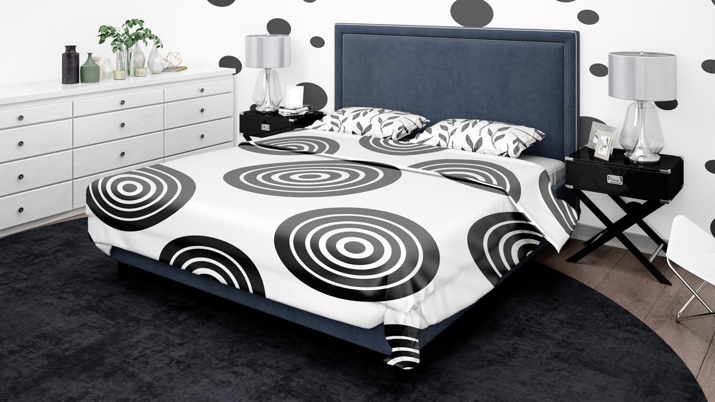 موکاپ اتاق خواب و موکاپ تخت در سه نمای مختلف شماره