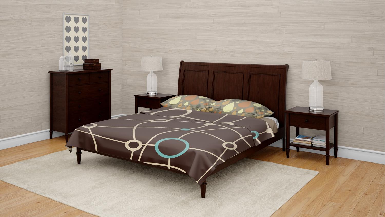 موکاپ ست کامل اتاق خواب لایه باز در سه نما شماره2