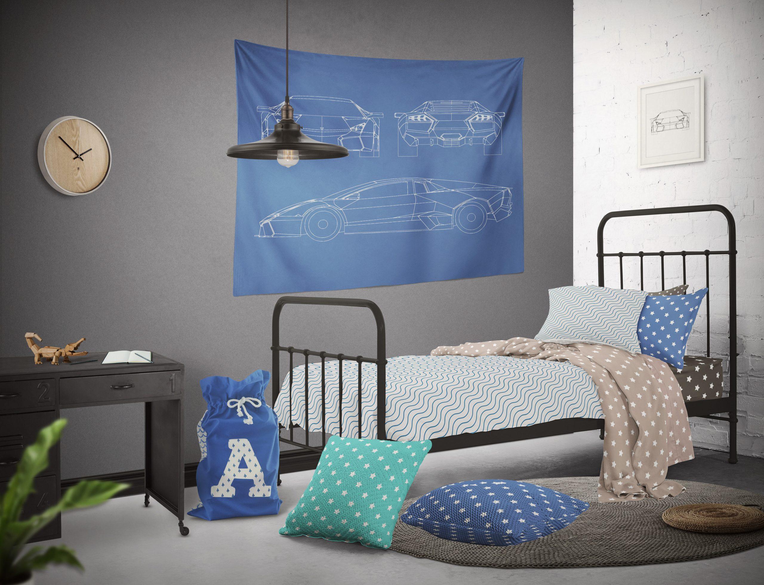 موکاپ اتاق خواب نوجوان با تمام امکانات
