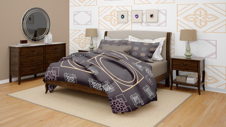 موکاپ اتاق خواب با تمام امکانات در سه نمای مختلف