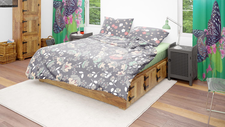 موکاپ اتاق خواب مدرن با ۳ نما شماره4