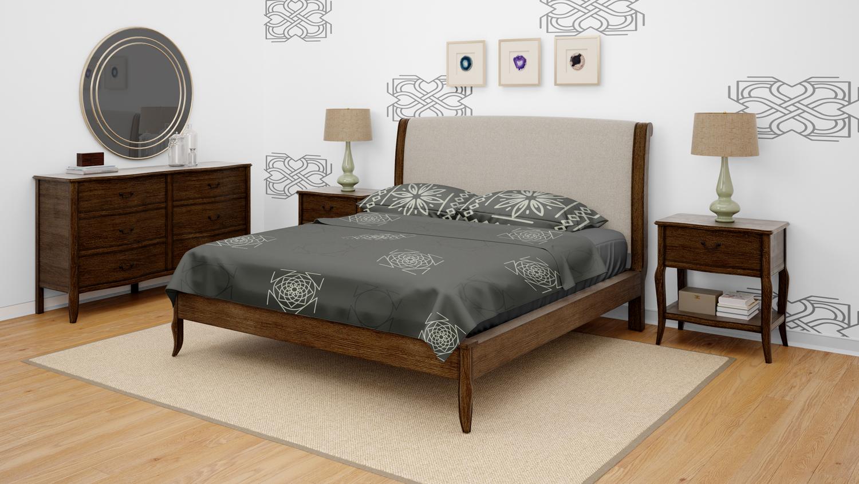 موکاپ اتاق خواب با تمام امکانات در سه نمای مختلف شماره2