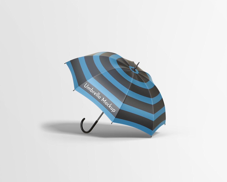 موکاپ چتر در4 نمای مختلف