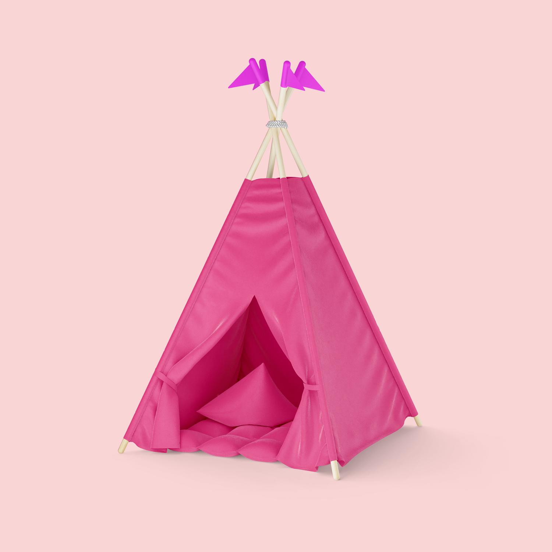 موکاپ چادر کودکان لایه باز