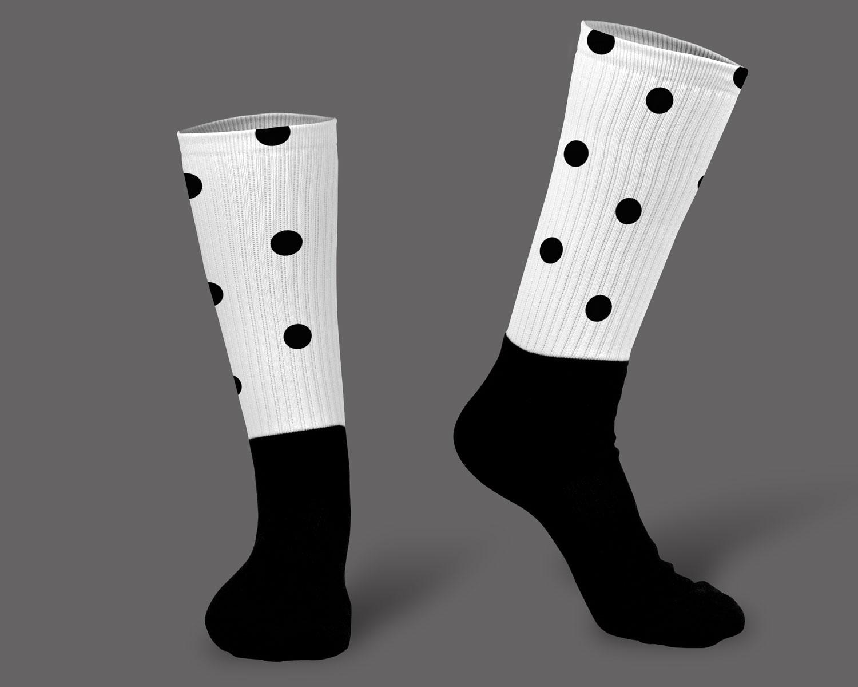 موکاپ جوراب زیر زانو