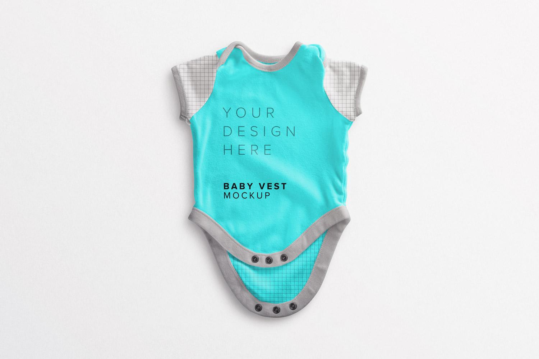 موکاپ لباس زیر دکمه ای کودک شماره2
