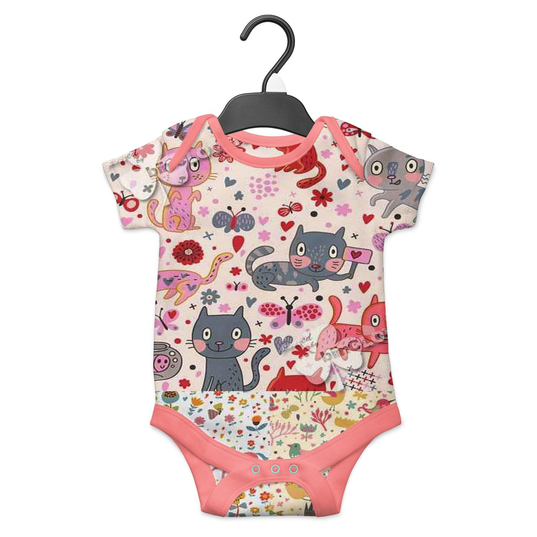 موکاپ لباس زیر دکمه ای نوزاد به صورت پشت و رو