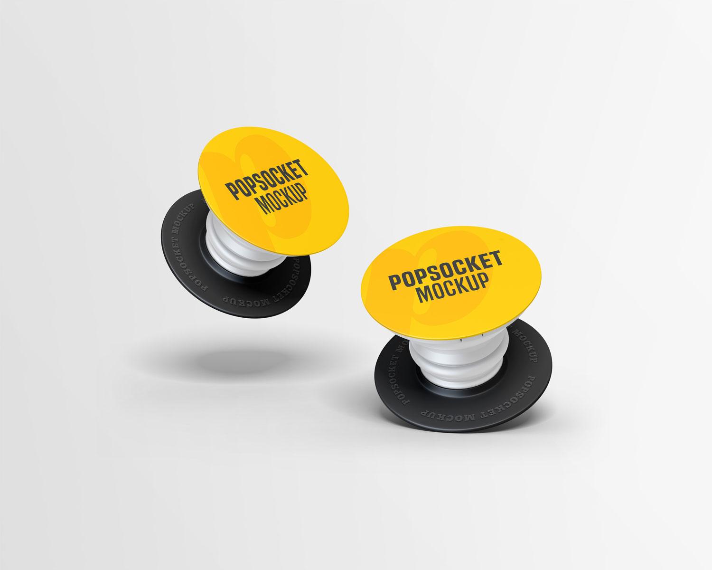 موکاپ پاپ سوکت(پایه نگهدارنده)گوشی