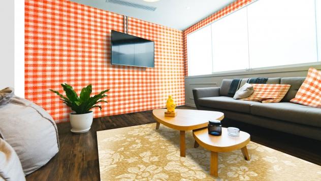 دانلود موکاپ کاغذ دیواری و فرش و کوسن