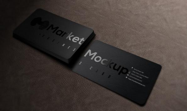دانلود موکاپ کارت ویزیت برجسته لمینت دورگرد