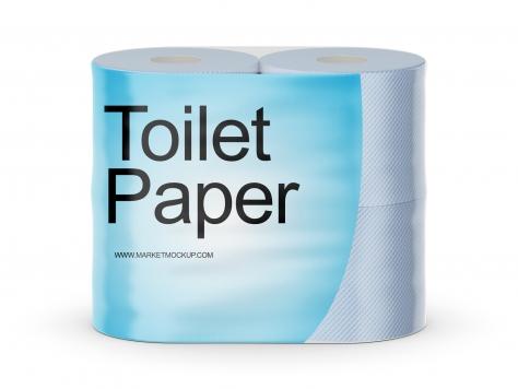دانلود موکاپ بسته بندی دستمال توالت 4 عددی