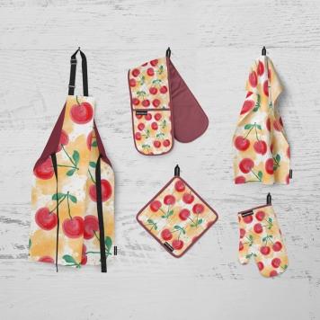 دانلود موکاپ سرویس پارچه ای آشپزخانه